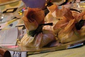 Paquetitos de choclo cremoso en masa philo