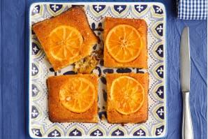 Torta invertida con polenta