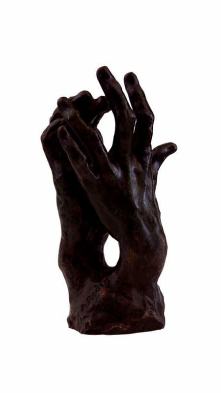 Estudio para manos (para El secreto] de August Rodin.