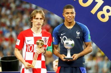 Luka Modric y Mbappe, el mejor jugador del Mundial y la figura más joven