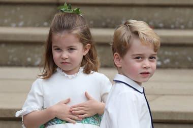 La princesa Charlotte y el príncipe George