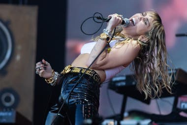 Miley Cyrus, en Glastonbury