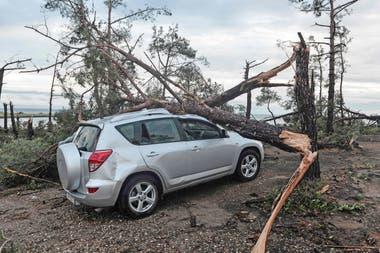 En fotos: una tormenta de viento y granizo causó la muerte de seis turistas en Grecia