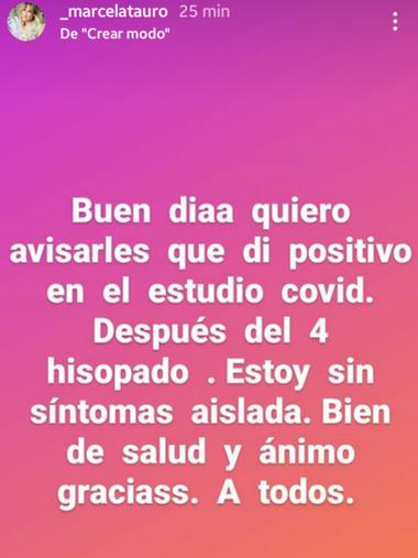 El posteo de Marcela Tauro en Instagram