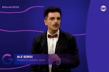Ale Sergi, uno de los conductores de la ceremonia