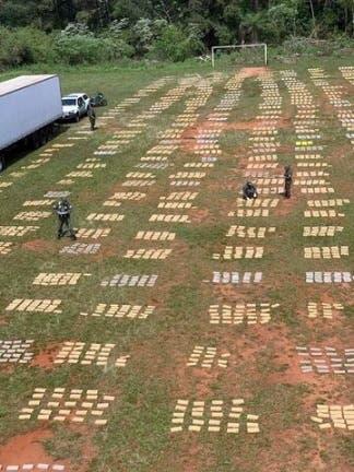 Drogas: encontraron 9 toneladas de marihuana ocultas en un cargamento de pollos