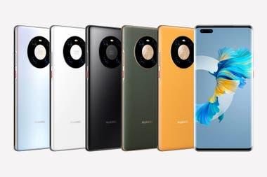 Las diferentes opciones de diseño disponibles en los teléfonos Mate 40 de Huawei