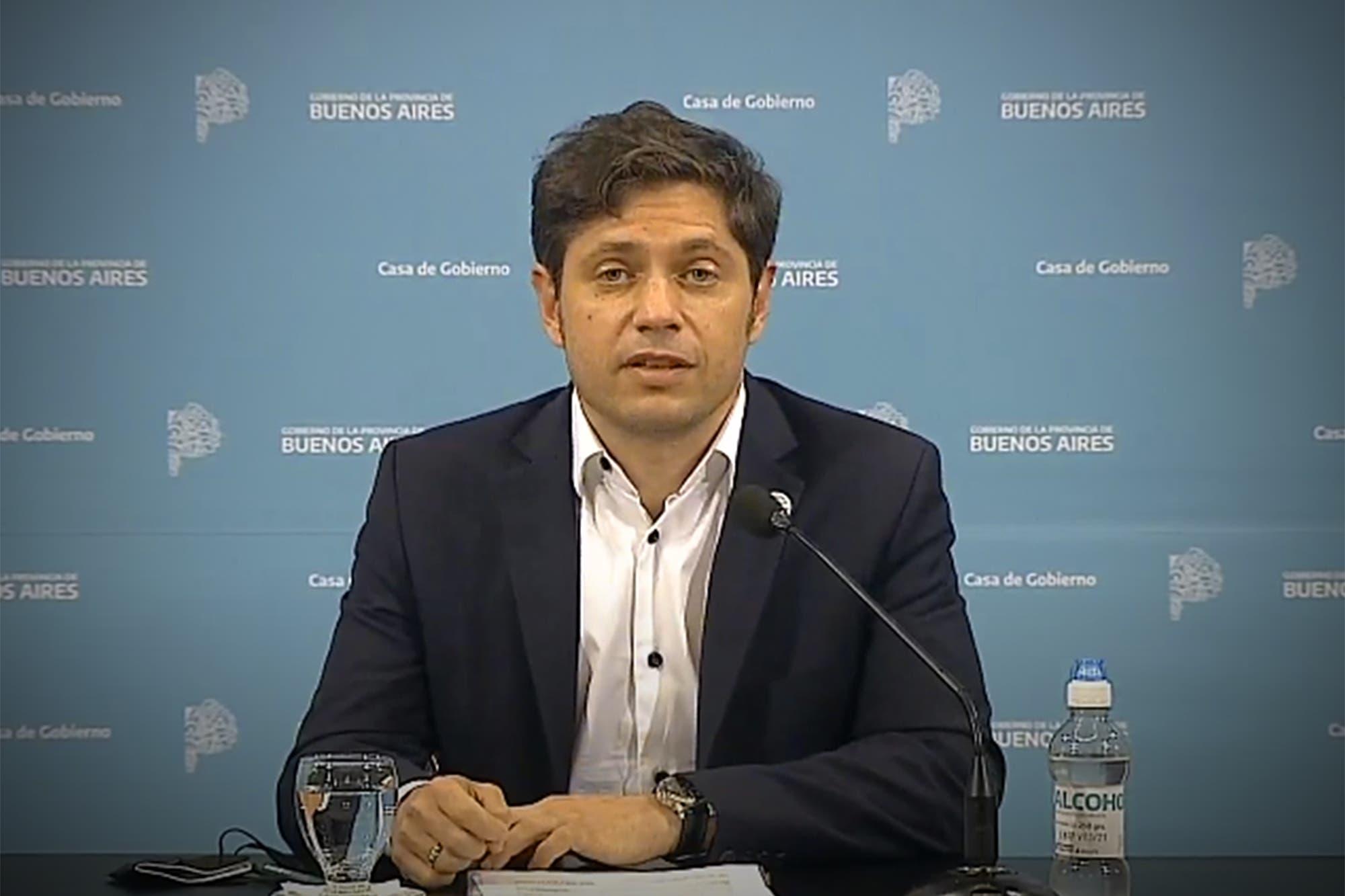 """Coronavirus en la Argentina: Axel Kicillof: """"El que esté vacacionando y dé positivo deberá regresar a su domicilio"""""""