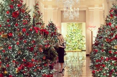 La primera dama presentó así la temporada de fiestas en la residencia oficial