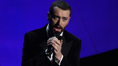 Sam Smith, en el escenario del Dolby Theatre