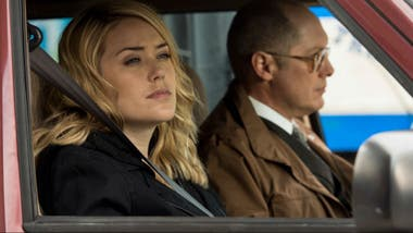 James Spader junto a Megan Boone en The Blacklist