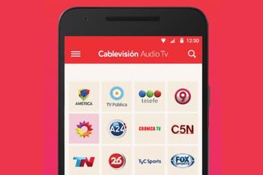 Cablevision Audio TV permite acceder de forma libre al sonido de la transmisión de los canales de televisión abierta
