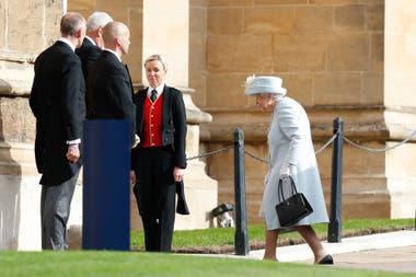 La reina Elizabeth II al llegar a la Capilla