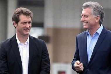 Macri con Guillermo Barros Schelotto