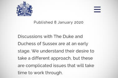 El comunicado de la Corona Británica
