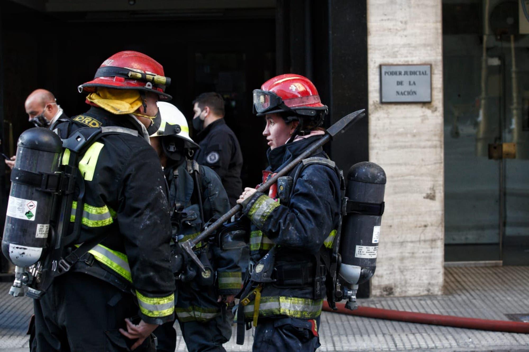San Nicolás. Se incendió un juzgado en el centro porteño