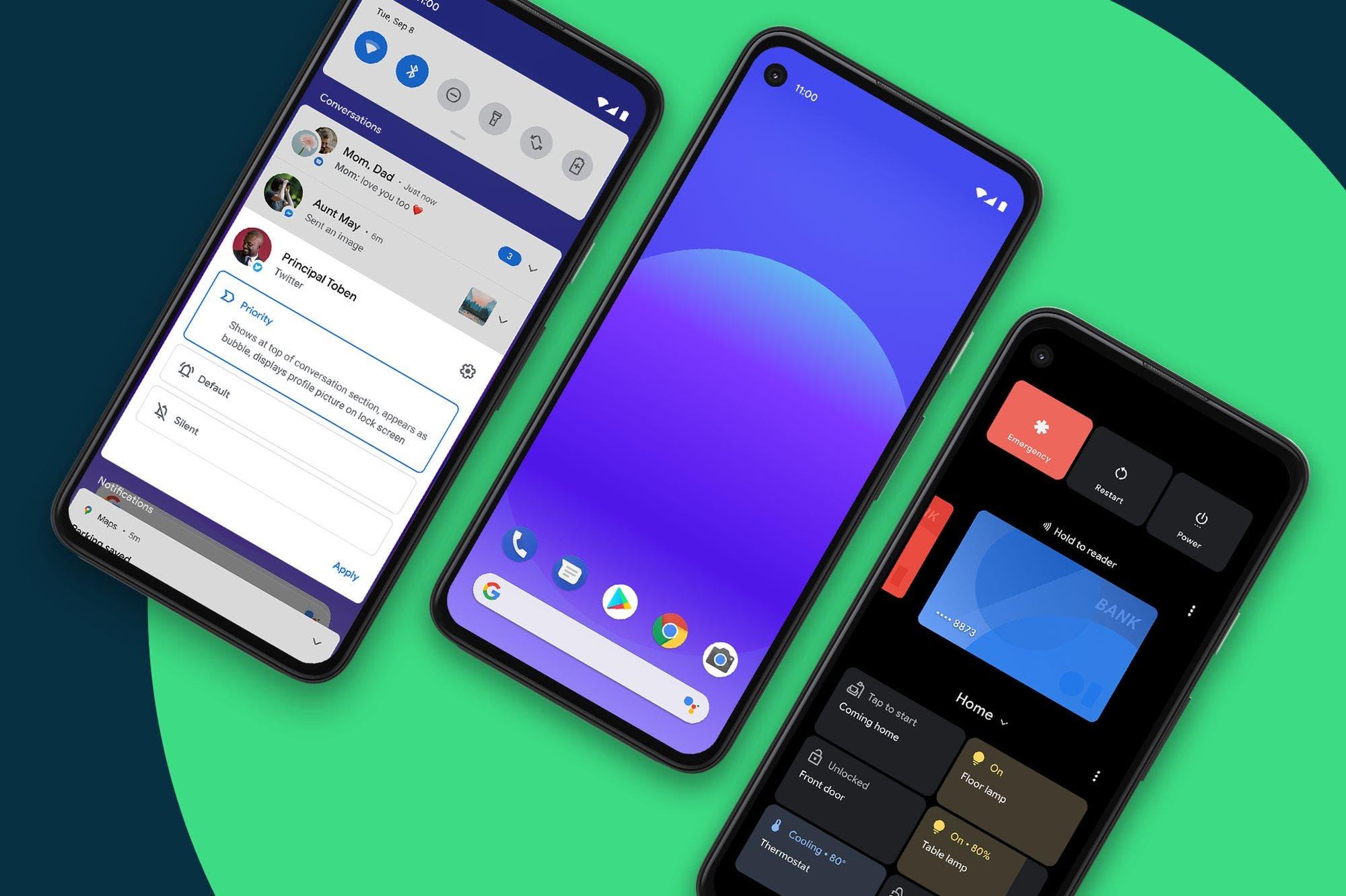 Android 11: llega la nueva versión, con foco en la privacidad y el chat universal