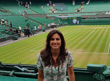 Gabriela Sabatini, invitada especial a Wimbledon