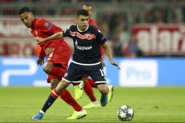 El cordobés Mateo García jugó los 90 minutos en el Estrella Roja de Belgrado