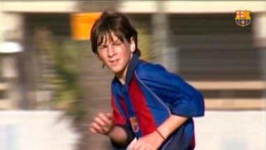 Messi en la Masía catalana, cuando recorrió todas las categorías a puro gol, desde Infantil B e Infantil A, pasando por Cadete B y Cadete A, hasta Juvenil B, Juvenil A, Barcelona C y Barcelona B