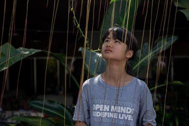 La activista climática china Howey Ou, de 17 años