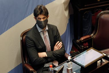 Martín Lousteau, al inicio de la sesión