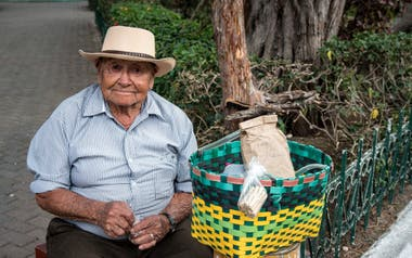 Uno de los jóvenes-ancianos de Vilcabamba (GAD Parroquial Vilcabamba/RT)