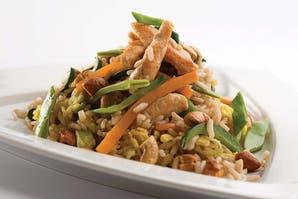 Sarteneado de pollo y arroz