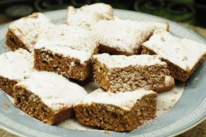 Brownies de jengibre bajas calorías