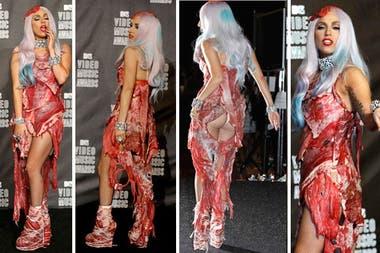Lady Gaga Con Vestido De Carne Lady Gaga Age