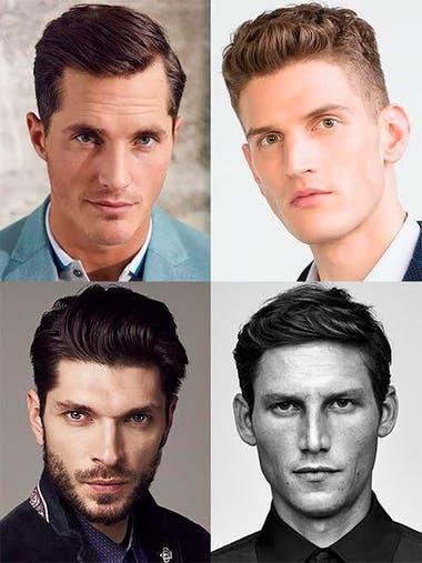 Rostro triangular corte de pelo hombres