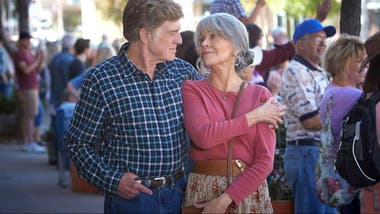 Robert Redford y Jane Fonda en el flamante film Our Souls at Night