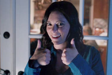 Rachel Bloom, en una escena de la tercera temporada de Crazy ex girlfriend