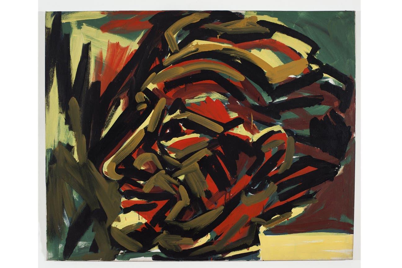 """""""Sin Título"""" (1984), de Luis Frangella. Galería Cosmocosa, sección Cabinet GNV Group"""