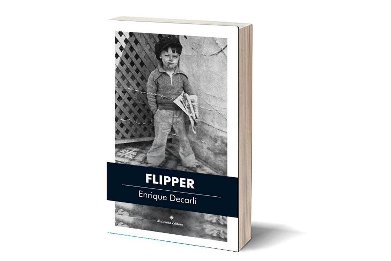 """""""Flipper"""", cálida nouvelle de Enrique Decarli; en la foto de tapa, el padre del autor a los cinco años"""