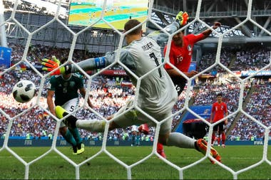 El primer gol de Corea del Sur a Alemania; la eliminación del actual campeón mundial fue la gran sorpresa