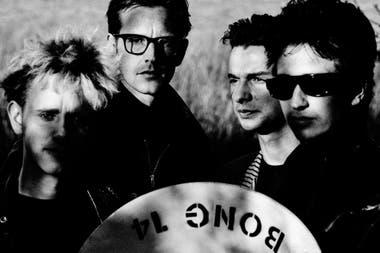 Martin Gore, Andy Fletcher, Dave Gahan y Alan Wilder en la época de Music for the Masses, 1987