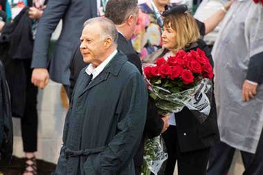 Gary y Mary West, en la tarde del Kentucky Derby, donde su caballo Maximum Security fue penalizado