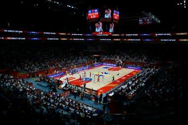 Una vista del Wukesong Sport Arena, en Pekín