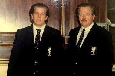 Juan Martín Campbell y Juan Antonio, en una gira a Sudáfrica en 1991, cuando el segundo presidía Buenos Aires Cricket Rugby Club.