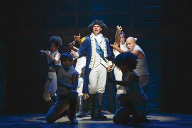 Los intérpretes elegidos poco se parecen a los pioneros, como Christopher Jackson en el rol de George Washington