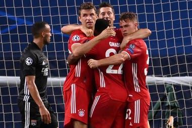 El poder de gol de Bayern para llegar a la final de la Champions League representado en Müller, Lewandowski y Gnabry