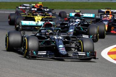 Hamilton y Bottas, un nuevo 1-2 de Mercedes, ahora en Bélgica