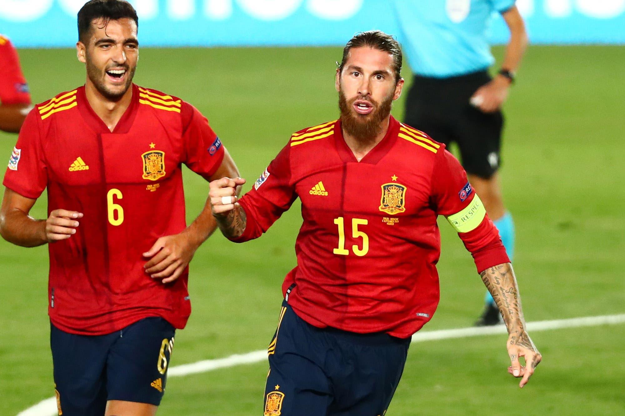 Nations League: Sergio Ramos quebró el récord de Daniel Passarella como defensor con más goles