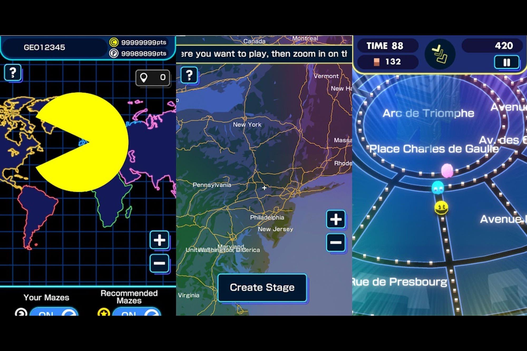 Pac-Man Geo: así es la nueva versión del clásico que se puede jugar en las calles y avenidas de Google Maps