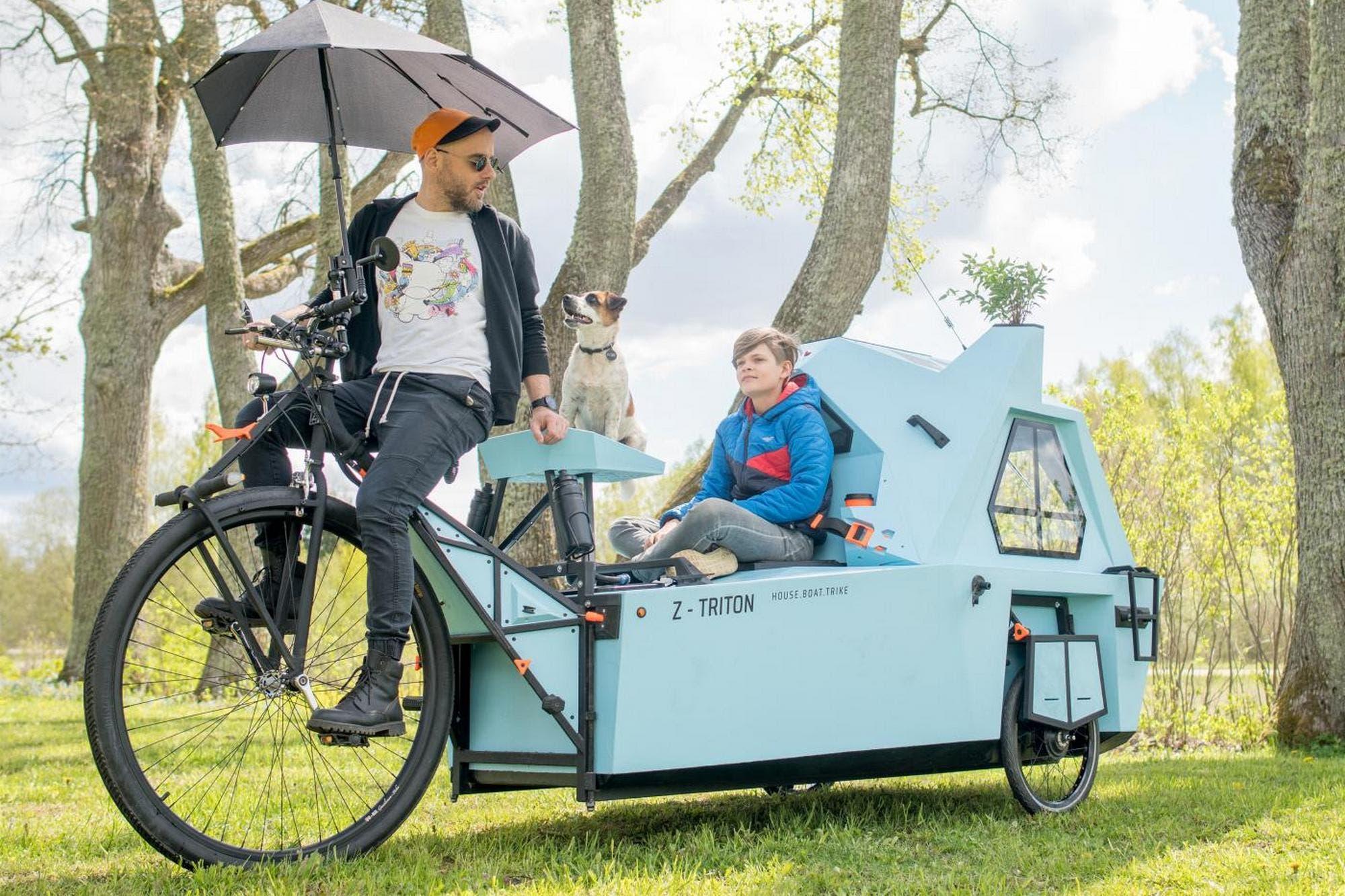 Z-Triton: esta es la casa rodante tecnológica que es también una bicicleta, un barco y un refugio