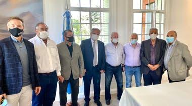 Alberto Fernández y los referentes de la CGT, en Olivos