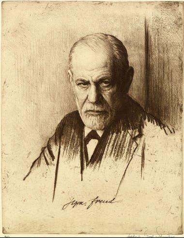 Sigmund Freud (1856-1939) en un retrato hecho por Ferdinand Schmutzer, en 1926