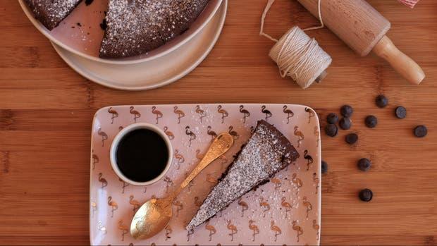 Receta de Torta húmeda de chocolate sin harina ni manteca
