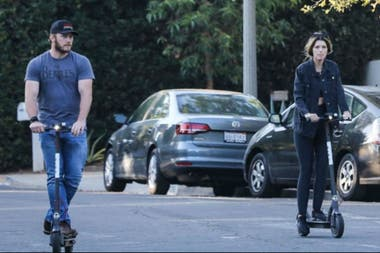 Meses atrás, Chris y Katherine de paseo